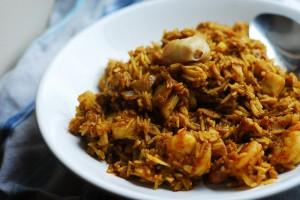 ريزوتو إيطالي بنكهة الكاري الهندية.  الصورة لTimothy Tsui من موقع فليكر